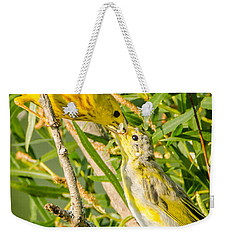 Weekender Tote Bag featuring the photograph Sushi For The Family by Steven Santamour