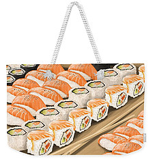 Weekender Tote Bag featuring the painting Sushi by Veronica Minozzi
