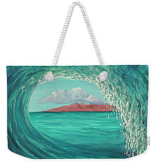 Weekender Tote Bag featuring the painting Suspended In Time by Darice Machel McGuire