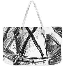 Weekender Tote Bag featuring the painting Suspenders by Cathie Richardson