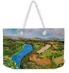 Weekender Tote Bag featuring the painting Susquehanna Valley by Judith Rhue