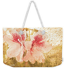 Weekender Tote Bag featuring the photograph Sutle Harmony by Bonnie Willis