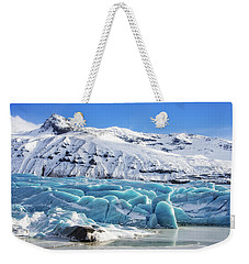 Weekender Tote Bag featuring the photograph Svinafellsjokull Glacier Iceland by Matthias Hauser