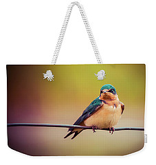 Swallow Weekender Tote Bag by Mary Hone