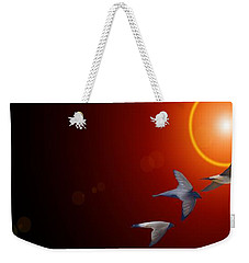 Swallows In Flight Weekender Tote Bag by George Pedro