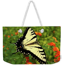 Swallowtail Among Lantana Weekender Tote Bag by Sue Melvin