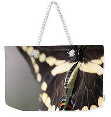 Weekender Tote Bag featuring the photograph Swallowtail Departing by Mary-Lee Sanders