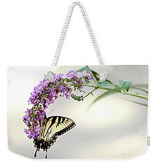 Swallowtail On Purple Flower Weekender Tote Bag