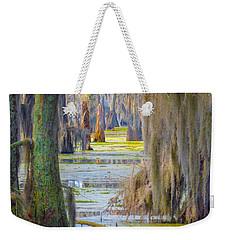Swamp Curtains In February Weekender Tote Bag