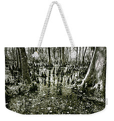 Swamp In Contrast Weekender Tote Bag by Andy Crawford