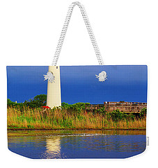 Swan At The Lighthouse Weekender Tote Bag