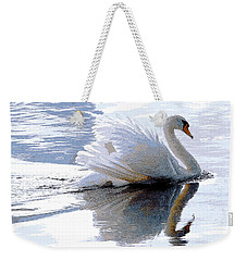 Swan Bathed In Morning Light Series 3 - Digitalart Weekender Tote Bag