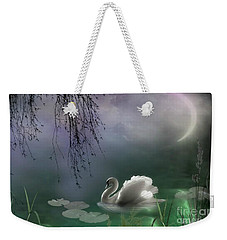 Swan By Moonlight Weekender Tote Bag