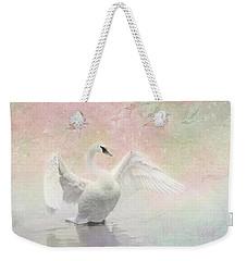Swan Dream - Display Spring Pastel Colors Weekender Tote Bag