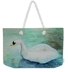 Swan Flight Weekender Tote Bag