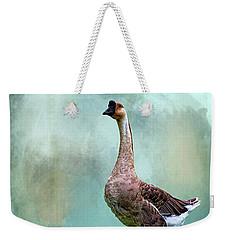 Swan Goose Weekender Tote Bag by Cyndy Doty