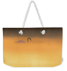 Swan In Aurora's Fiery Dawn Weekender Tote Bag