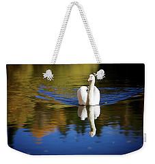 Swan In Color Weekender Tote Bag by Teemu Tretjakov