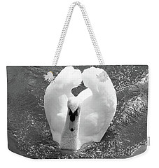 Swan In Motion Weekender Tote Bag