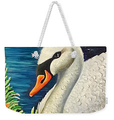 Swan In Pond Weekender Tote Bag