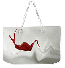 Swan In Turbulent Waters Weekender Tote Bag