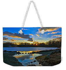 Swan Lake Sunset Weekender Tote Bag