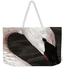 Weekender Tote Bag featuring the photograph Swan Neck by Jean Noren