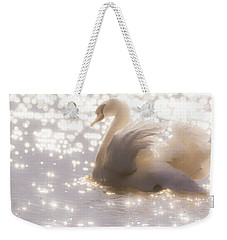 Swan Of The Glittery Early Evening Weekender Tote Bag