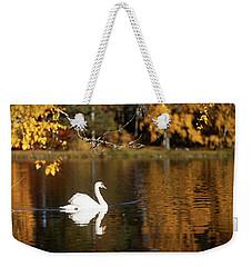 Swan On A Lake Weekender Tote Bag by Teemu Tretjakov