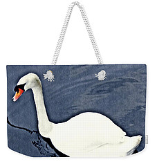 Weekender Tote Bag featuring the photograph Swan On The Rhine by Sarah Loft