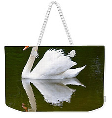 Swan Reflecting Weekender Tote Bag
