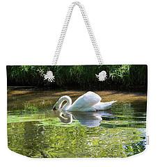 Swan Reflections, Rural England Weekender Tote Bag
