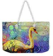 Swan Spectacular Oil Weekender Tote Bag