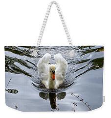 Swan Swim Weekender Tote Bag
