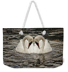 Swan Times Two Weekender Tote Bag by Mary Hone
