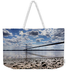 Swans At Humber Bridge Weekender Tote Bag