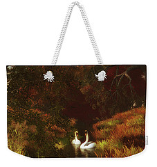 Swans In The Forest Weekender Tote Bag