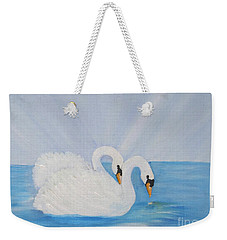 Swans On Open Water Weekender Tote Bag