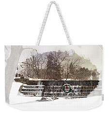 Weekender Tote Bag featuring the photograph Swansea Dam At Christmas by Robin-Lee Vieira