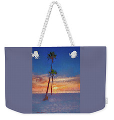 Weekender Tote Bag featuring the photograph Swaying Palms by Marvin Spates