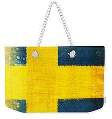 Swedish Flag Weekender Tote Bag