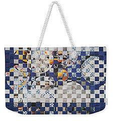 Weekender Tote Bag featuring the mixed media Swedish Table by Jan Bickerton
