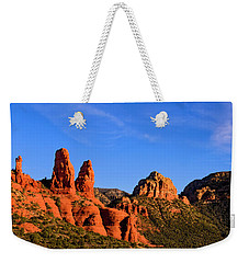 Weekender Tote Bag featuring the photograph Sweeping Sedona by Mark Myhaver