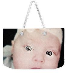 Sweet Baby Girl Portrait Weekender Tote Bag