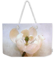 Weekender Tote Bag featuring the photograph Sweet Bay Magnolia Bloom by Louise Kumpf