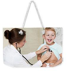 Sweet Child Visiting Doctor Weekender Tote Bag
