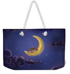 Weekender Tote Bag featuring the drawing Sweet Dreams by Julia Art
