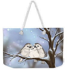 Weekender Tote Bag featuring the painting Sweet Family by Veronica Minozzi