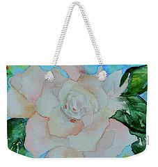 Weekender Tote Bag featuring the painting Sweet Gardenia by Beverley Harper Tinsley