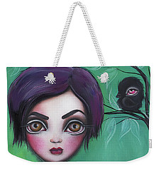 Sweet Girl Weekender Tote Bag by Abril Andrade Griffith